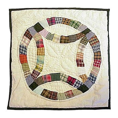 Patch Magic Country Wedding Ring Cotton Throw Pillow