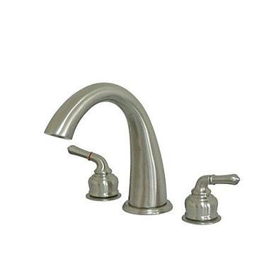 Elements of Design St. Charles Double Handle Deck Mount Roman Tub Faucet; Satin Nickel