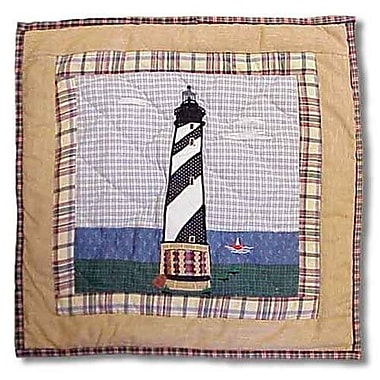 Patch Magic Lighthouse by Bay Cotton Throw Pillow