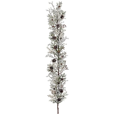 Silk Flower Depot Ice Snow Berry/Cone/Twig/Pine Garland