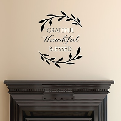 Belvedere Designs LLC Grateful Thankful Blessed Wall Quotes Decal