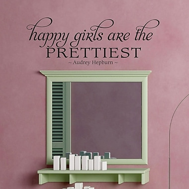 Belvedere Designs LLC Happy Girls Fancy Wall Quotes Decal