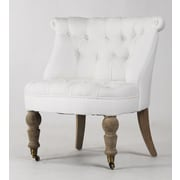 Zentique Inc. Amelie Slipper Chair; White