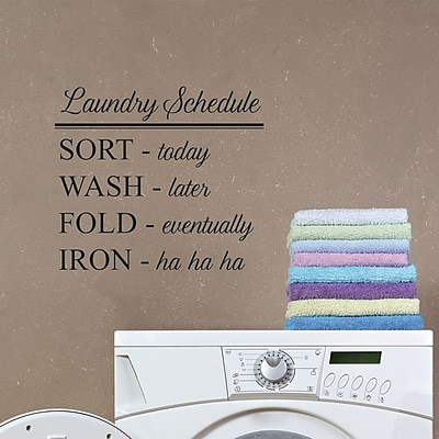 Belvedere Designs LLC Laundry Schedule Wall Quotes Decal