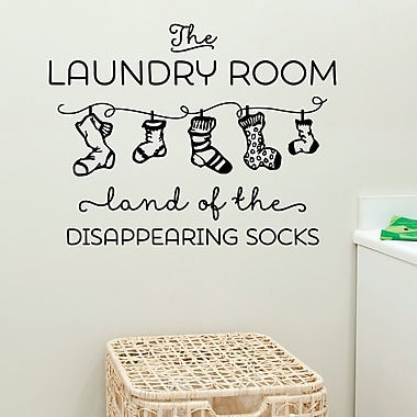 Belvedere Designs LLC Land Of Disappearing Socks Wall Quotes Decal