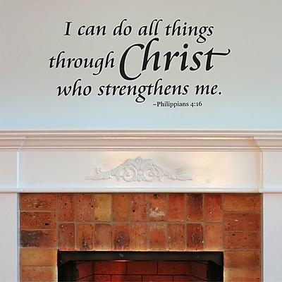 Belvedere Designs LLC I Can Do All Things Wall Quotes Decal