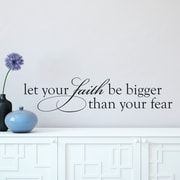 Belvedere Designs LLC Faith Bigger Than Fear Wall Quotes  Decal