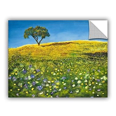 ArtWall ArtApeelz Golden Meadow by Marina Petro Painting Print on Canvas; 14'' H x 18'' W x 0.1'' D