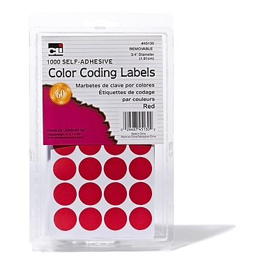 Charles Leonard Colour Coding Labels,.75