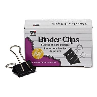 Charles Leonard – Pinces relieuses, miniatures, 1/4 po, noir, 576/paquet (CHL50001)