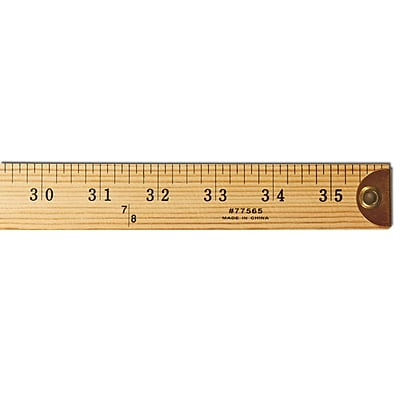 Wooden Yardstick 3', Natural Color, (CHL77565)