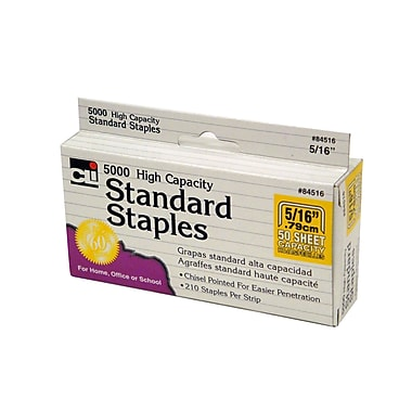 Charles Leonard High Capacity Standard Staples, 5/16