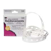 "Charles Leonard® Hole Reinforcements Poly Coated, White, 5/8"" x 2-3/4"", 200/Box (CHL91200)"