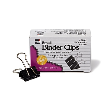 Charles Leonard Binder Clips, Small, 3/8