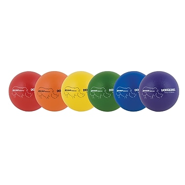 Champion Sports Rhino Skin Dodgeball Set Multicolour, 6/Pack (CHSRXD6SET)