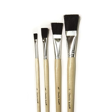 Chenille Kraft Natural Easel Brushes, Assorted, 18/Pack (CK-5939)