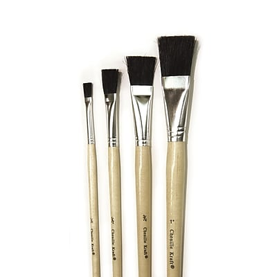 "CK-5939 Natural Easel Brush Assortment Pack. Contains One Each Of 1/4"", 1/2"", 3/4"" And 1"" Brushes."