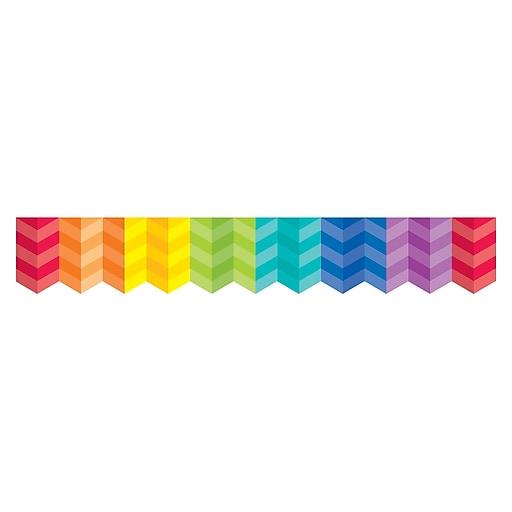 "Creative Teaching Press CTP0187 3"" x 35' Herringbone Borders Paint Rainbow"