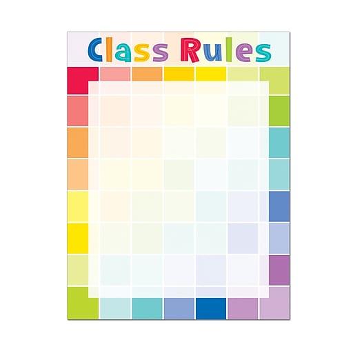 "17"" x 22"" Class Rules Chart (Paint) Multicolor, (CTP1127)"