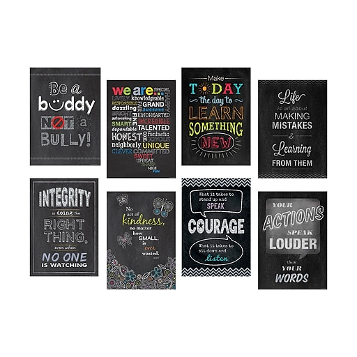 """13"""" x 19"""" Inspire U 8-Poster Pack (CTP6686)"""