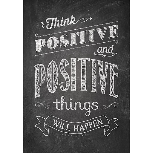 """13"""" x 19"""" Think positive and positive Inspire U Poster (CTP6700)"""