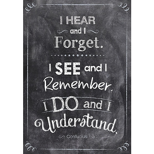 "13"" x 19"" I hear and I forget Inspire U Poster (CTP6750)"