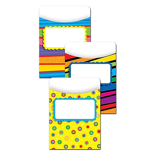 Creative Teaching Press Poppin Patterns Jumbo Library Pockets, Grades K-6 (CTP6776)