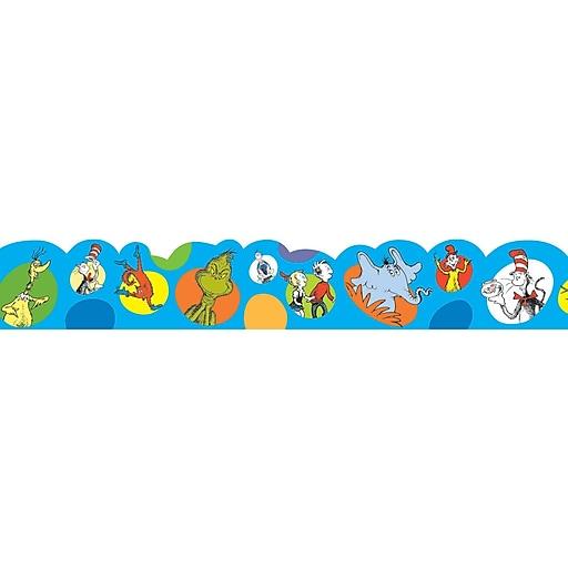 """Dr. Seuss Bubbles 2.25"""" x 12' Deco Trim, Multicolor (EU-845059)"""