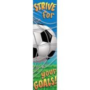 "EUREKA 12"" x 45"" Soccer Motivational Banner, Multicolor"