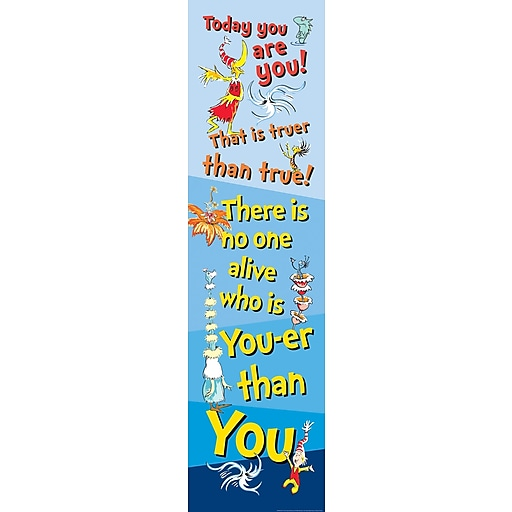 "EUREKA EU-849446 Dr. Seuss Motivational 12"" x 45"" Vertical Banner, Multicolor"