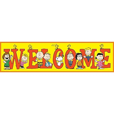 Eureka Peanuts Welcome Banner, Multicolour, 45