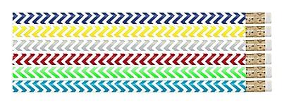 Musgrave Chevron Chic Designer Pencil, Multicolor, pack of 12 (MUS2540D)