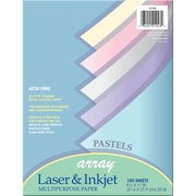 "Pacon Bond Paper, 8.5""X11"", Pastel Assortment, 100 Ct, 300/Pack (PAC101048)"