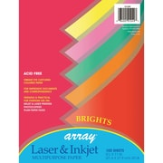 "Pacon® Bond Paper, 8.5""x11"", Brights Assortment, 100 ct (PAC101049)"