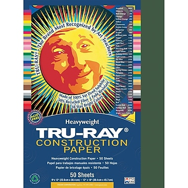 Pacon Tru-Ray Construction Paper, Dark Green, 9