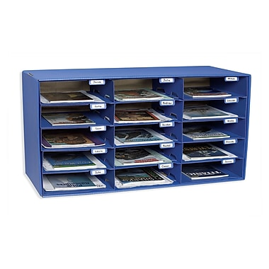 Pacon Classroom Keepers 15-Slot Mailbox, Blue (PAC1308)
