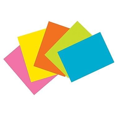 Pacon – Fiches, 4 x 6 po, non-lignées, assortiment de couleurs vives, 600/paquet (PAC1721)