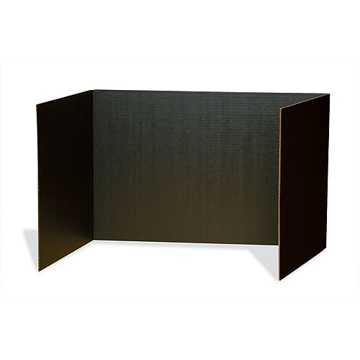 """Pacon® 48"""" x 16"""" Privacy Board, Black, 4/Pack (PAC3791)"""