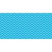 "Fadeless 48"" x 50' Aqua Chevron, Design Roll, (PAC55825)"