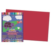 "Pacon Sunwork Construction Paper, 12""X18"", Red, 50 Ct., 300/Pack (PAC6107)"