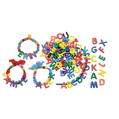 Roylco Manuscript Letter Beads Uppercase, Multicolour, 288/Pack (R-2184)