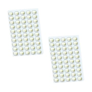 "StikkiDOTS Removable & Reusable adhesive dots, White, 6"" x 3"" 100 dots per pack. (02100)"