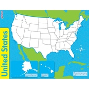 "TREND enterprises, Inc. United States, Wipe-Off® Map, 22"" x 17"", 1 each (T-27301)"