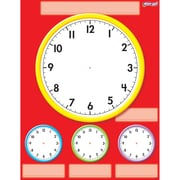 "TREND enterprises, Inc., 17"" x 22"" Clocks, Wipe-Off® Chart, Red/White/Yellow/Blue/Green, (T-27312)"