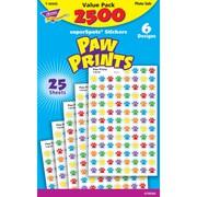 TREND enterprises, Inc. superSpots®, paw prints, sticker, Multicolor, 2500/pkg, (T-46926)