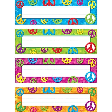 Peace Signs Desk Toppers® Name Plates Variety Pack, 32/pkg 2.88