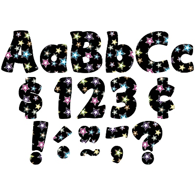 """""""""""TEACHER CREATED RESOURCES 4"""""""""""""""" Fancy Stars Funtastic Font Letters, Multicolor, (TCR5374)"""""""""""" 1828124"""