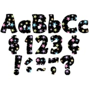"""TEACHER CREATED RESOURCES 4"""" Fancy Stars Funtastic Font Letters, Multicolor, (TCR5374)"""