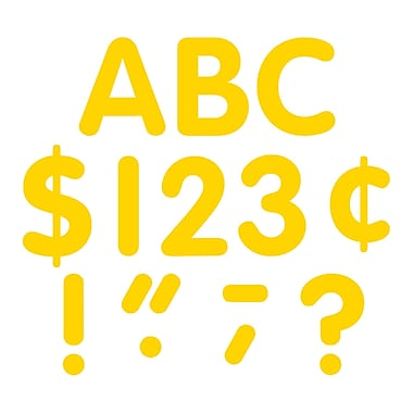 Teacher Created Resources Gold Classic Font Uppercase Letters, Yellow, 4