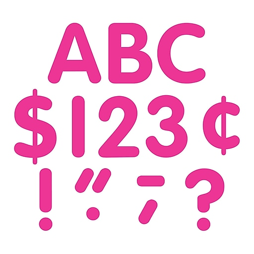 """Teacher Created Resources 4"""" Classic Font Uppercase Letters, Hot Pink (TCR5386)"""